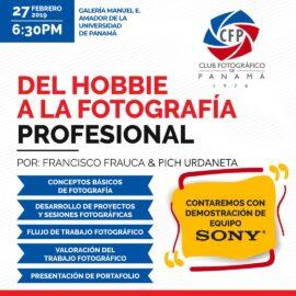 """Charla """"Del Hobbie a la Fotografía Profesional"""" – Febrero 2019"""